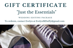 """Just the Essentials"" gift certificate"