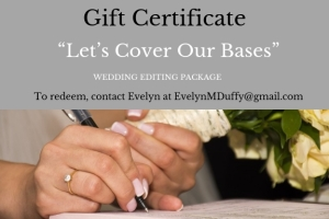 """Let's Cover Our Bases"" gift certificate"